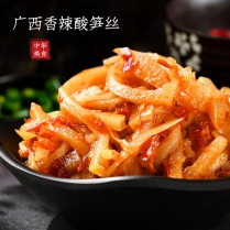 新品广西酸笋丝香辣下饭菜咸菜酱菜开胃即食柳州螺蛳粉脆笋酸辣笋